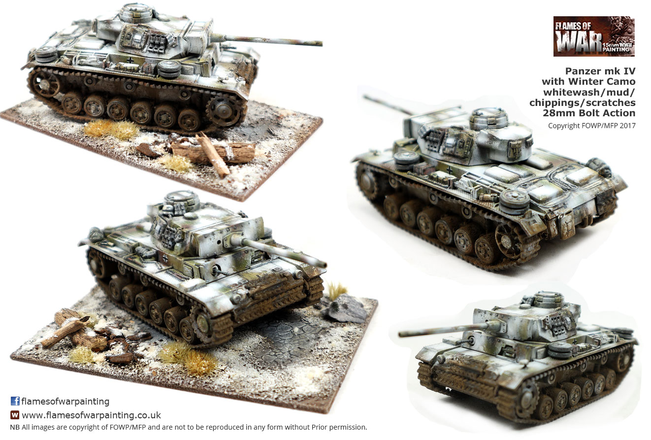 bolt action panzer4 winter camo