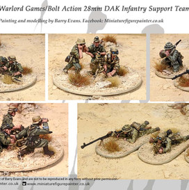 Warlord Games/Bolt Action 28mm DAK Infantry support teams