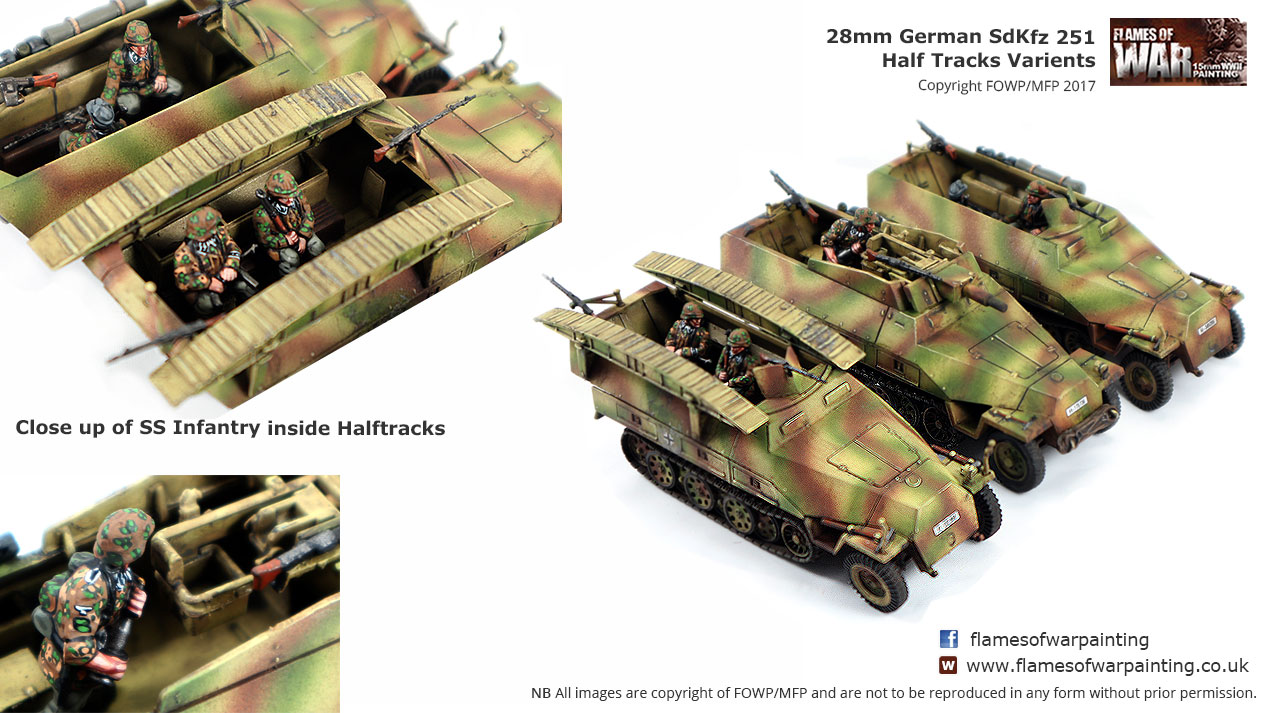 28mm German SdKfz 251 Half Tracks
