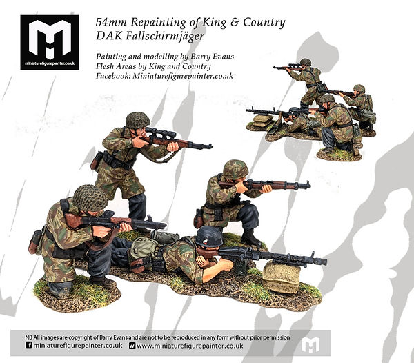 54mm-king-country-fallsmerger painted by miniaturefigurepainter.co.uk
