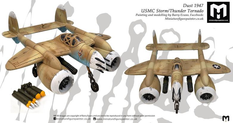 28MM Dust 1947 USMC Storm/Thunder Tornado