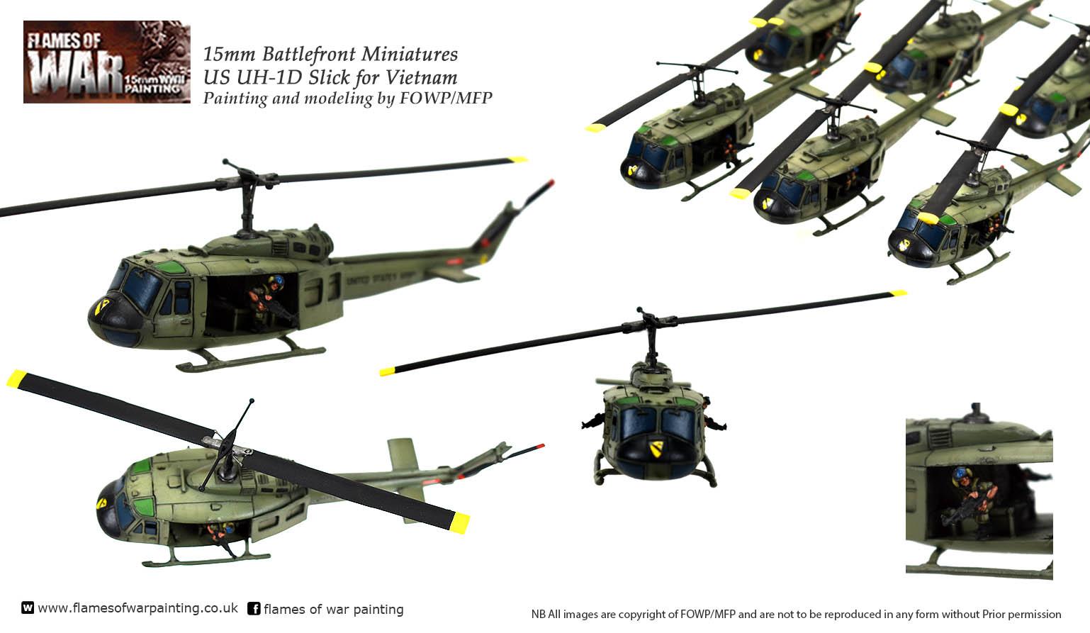 US UH-1D Slicks for Vietnam