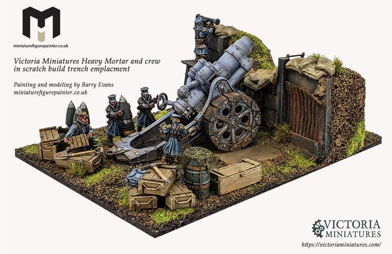 Victoria Miniatures Heavy Mortar and crew