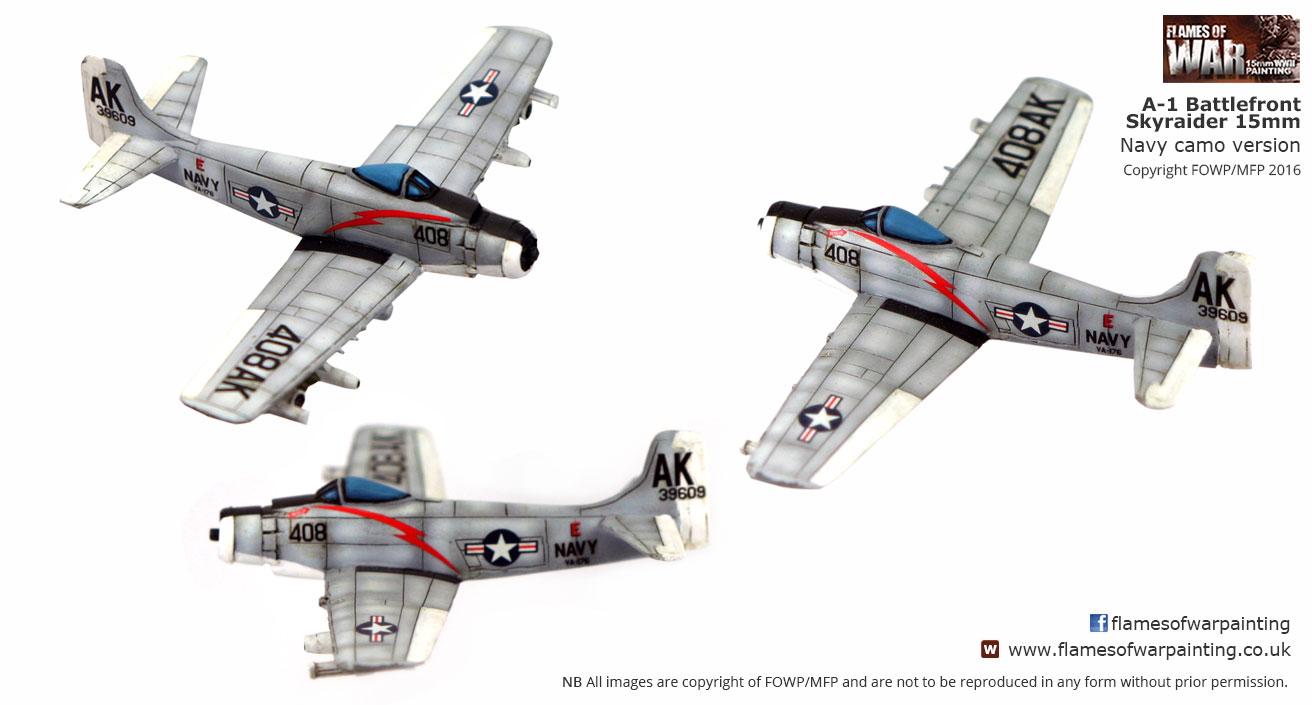 Battlefront 15mm A-1 SKYRAIDER. USN