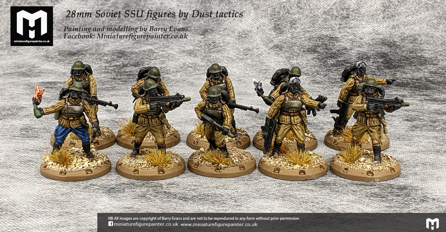 28mm Soviet SSU squad figures by Dust tactics