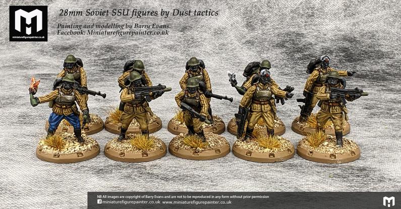 28mm Soviet SSU squad figures by Dust tactics