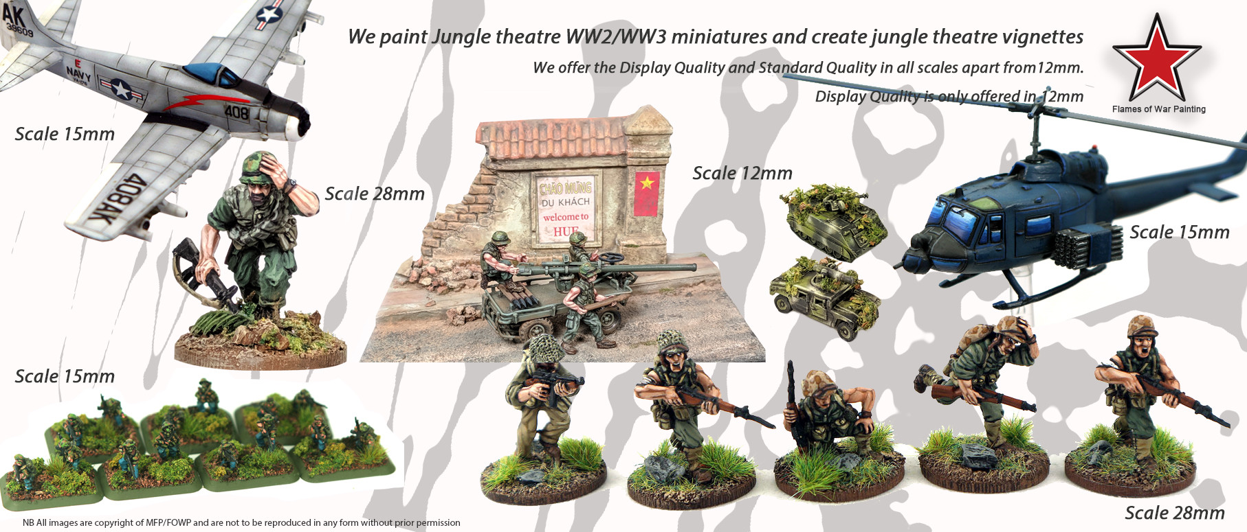 FOWP painted miniatures for jungle warfare
