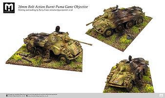 28mm Bolt Action Burnt Puma Game Objective. Painting by Barry Evans miniaturefigurepainter.co.uk