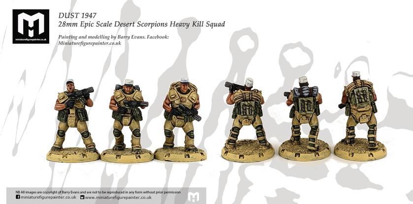 Desert Scorpion Heavy Engineers squad. Painting and modelling by Barry Evans.Miniaturefigurepainter.co.uk