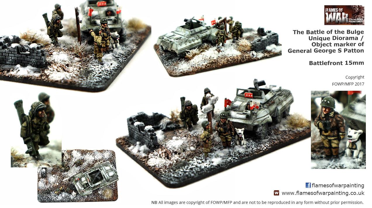 Battle of the Bulge Patton Diorama