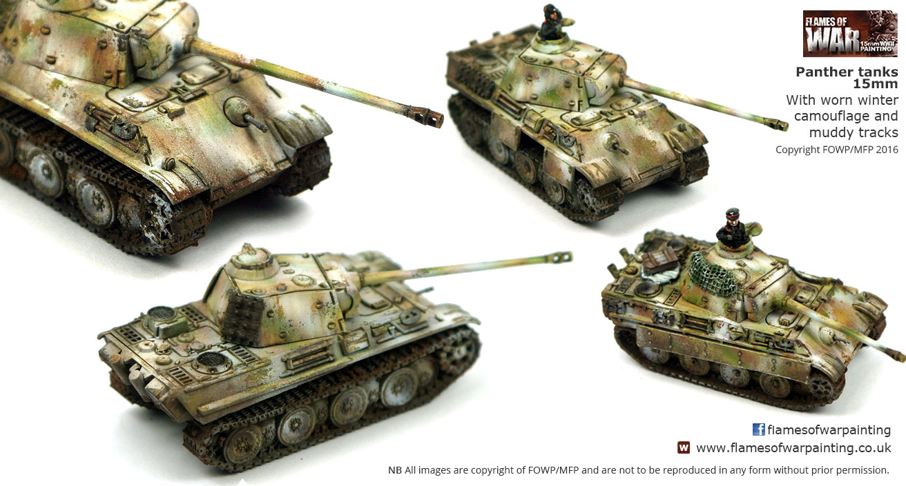 Panther tanks 15mm With worn winter