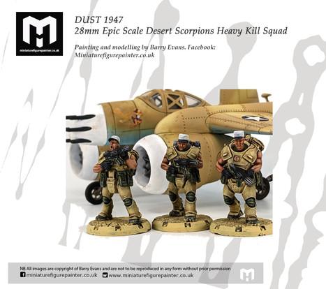 DUST 1947 28mm Epic Scale Desert Scorpions Heavy Kill Squad.