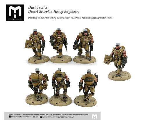 Desert Scorpion Heavy Engineerssquad. Painting and modelling by Barry Evans.Miniaturefigurepainter.co.uk