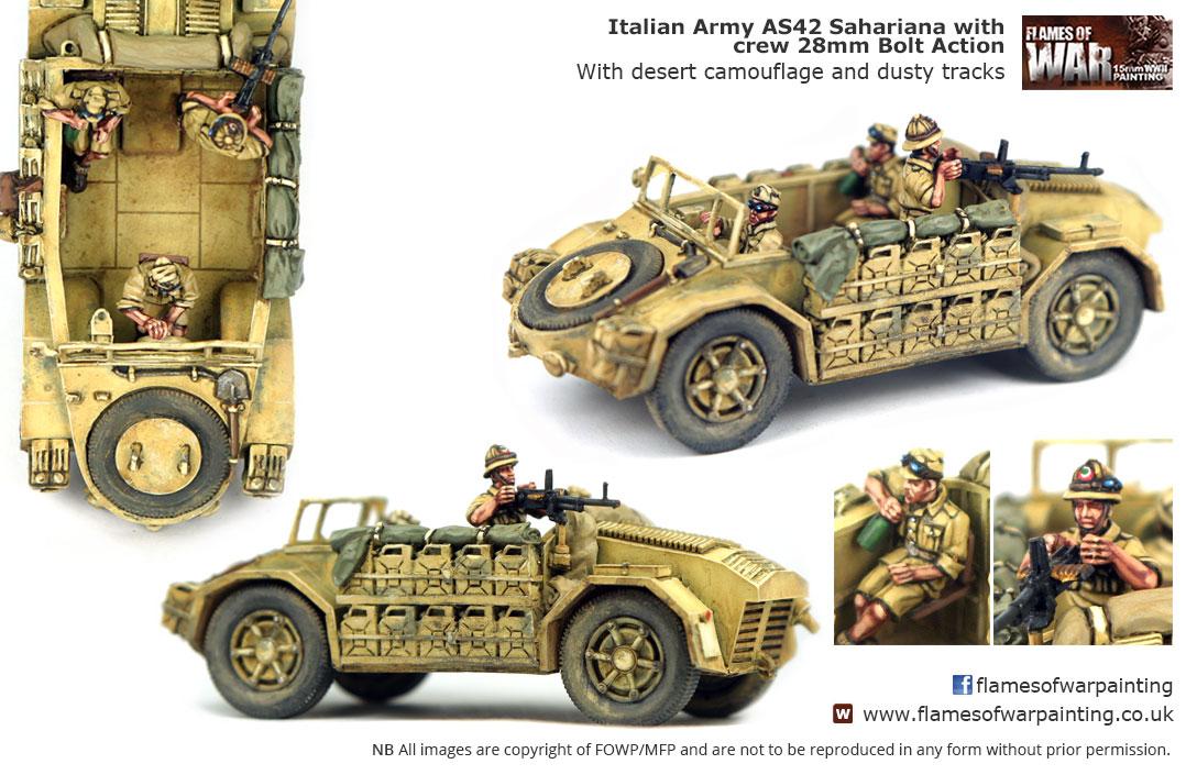Italian Army AS42 Sahariana with cre