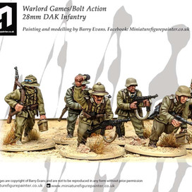 28mm DAK Infantry #PaintingWarlord