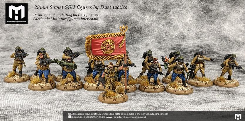 28mm Soviet SSU figures by Dust tactics