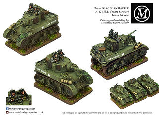 For Sale 15mm Forged in Battle Stuart Tank painted by Miniature Figure Painter.co.uk