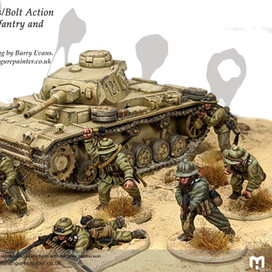 28mm DAK Infantry and Panzer III tank #PaintingWarlord