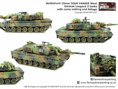 Team Yankee West German Leopard 2 tank, painted by Flames of War Painting