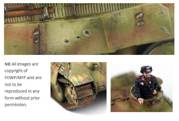Close up battle damage Panther Zug B
