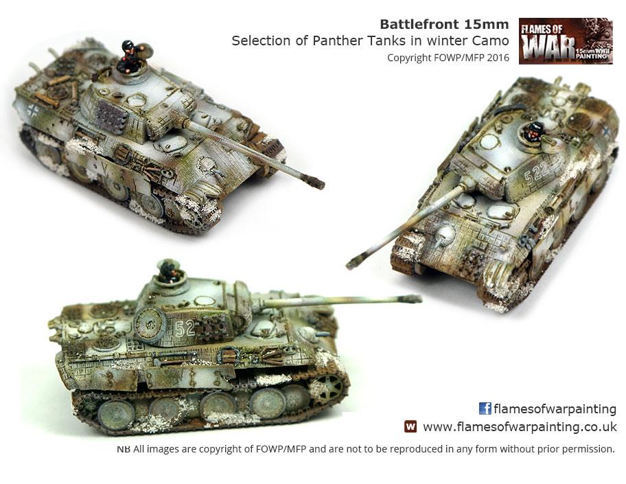 Battlefront 15mm Selection of Panthe