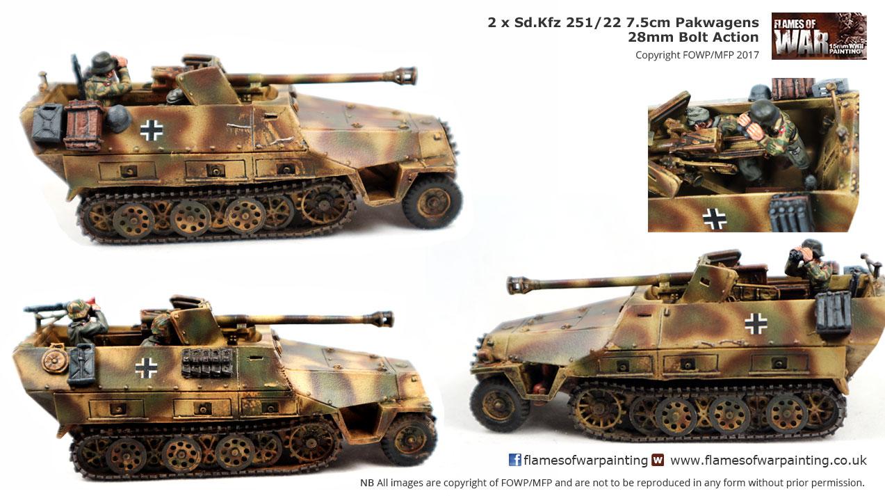 2 x Sd.Kfz 251/22 7.5cm Pakwagens