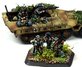 15mm Panzer Grenadier HT HQ painted by Flames of War Painting/MFP