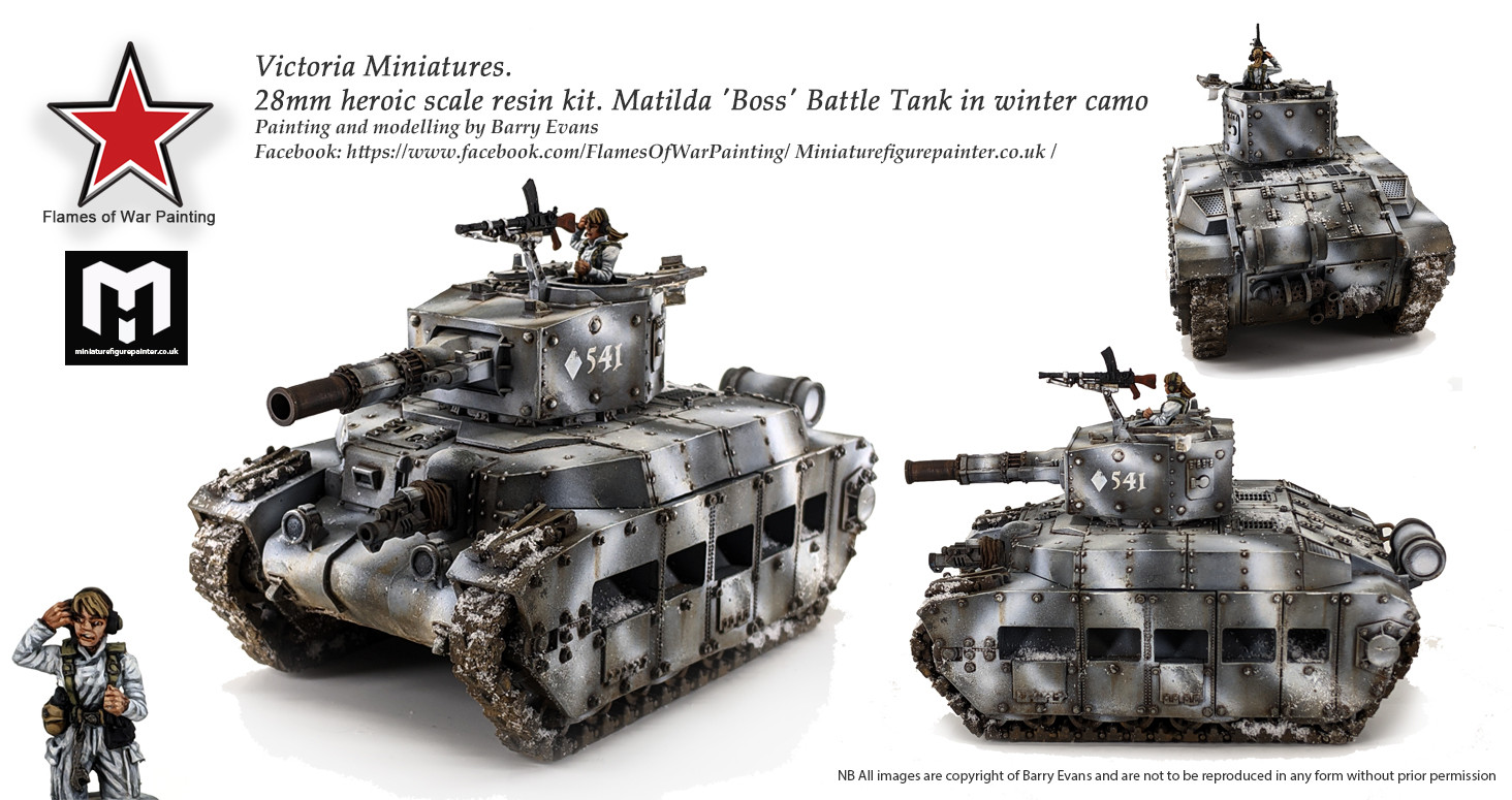 28mm Victoria Miniatures Boss tank