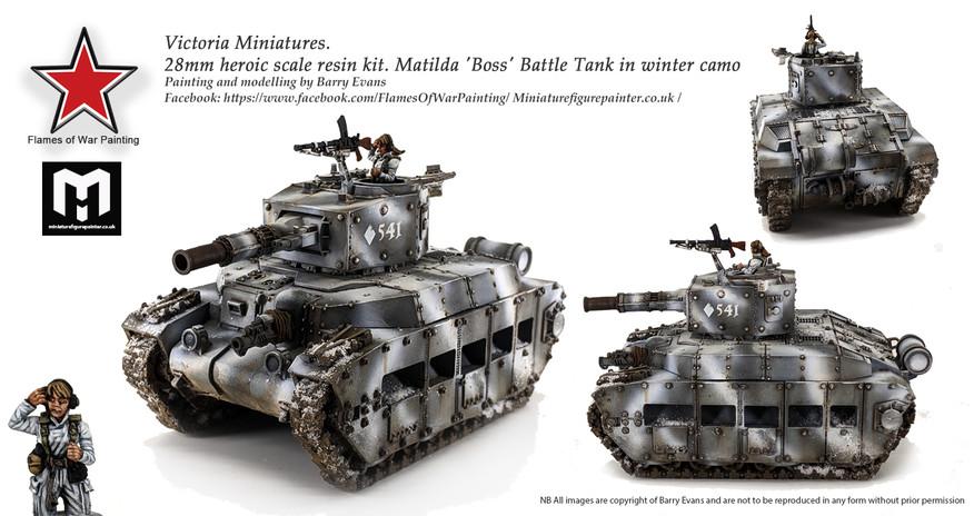 28mm Victoria Miniatures Boss tank