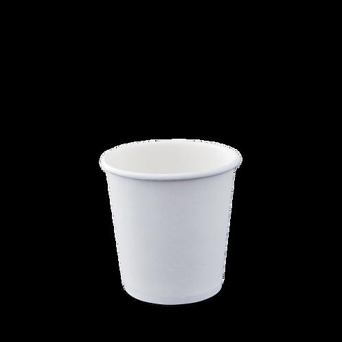 4oz Plain White Hot Cup Single Wall