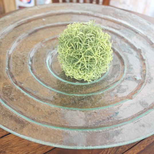 ハンドメイド ガラスの水鉢