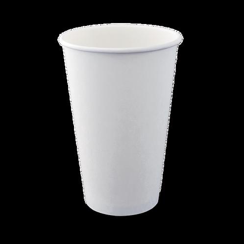 16oz Plain White Hot Cup Single Wall