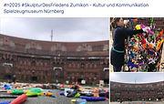 Gipfelkonferenz der Kinder, Bau der Friedensskulptur, N2025
