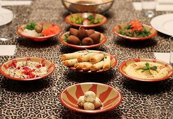 Maza, Meze oder Mezze. syrische arabische Vorspeisen