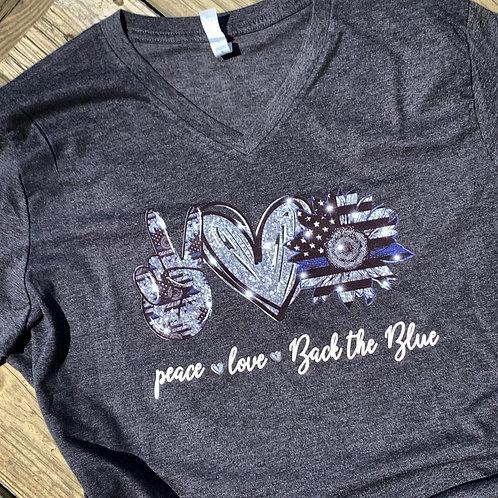 Peace Love Back the Blue