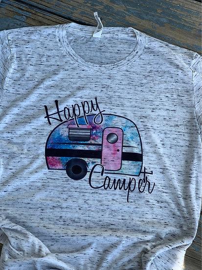 Happy camper Tie dye  T-shirt