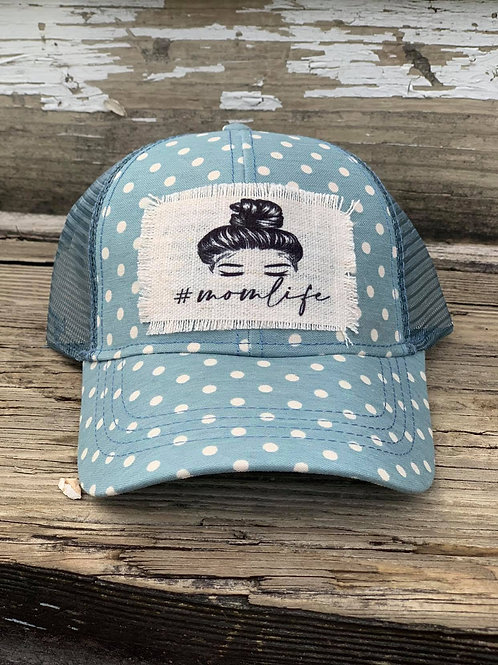 #momlife Messy Bun Hat