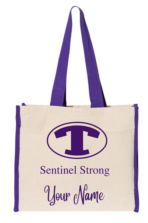 Purple piping Tote Bag