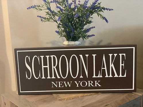 Schroon Lake Wooden Sign
