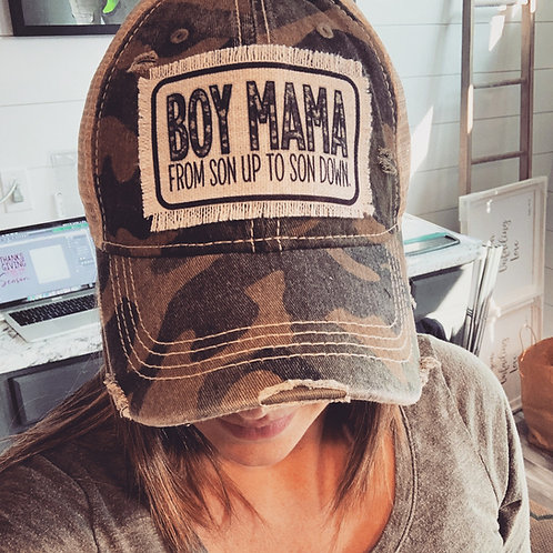 Boy Mama camo hat