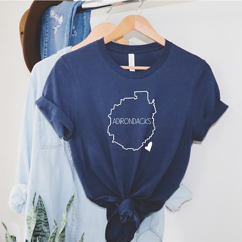 Adirondacks Heart T-shirt