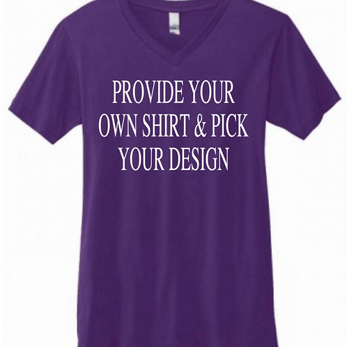 Provide your own shirt