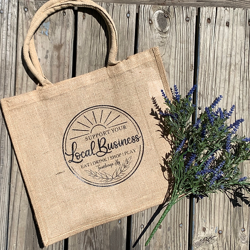 Jute Support Local Business Tote