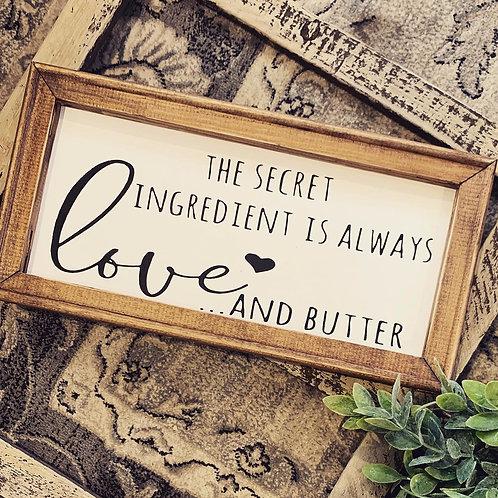 Love & Butter Sign