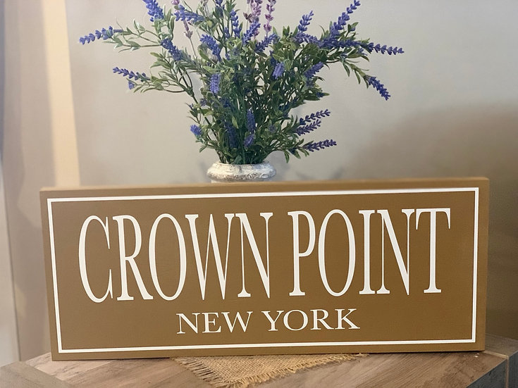 Crown Point Wooden Sign