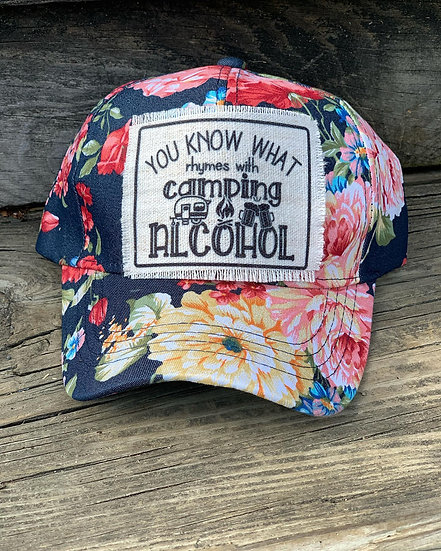 Camping Rhymes with Alcohol Hat