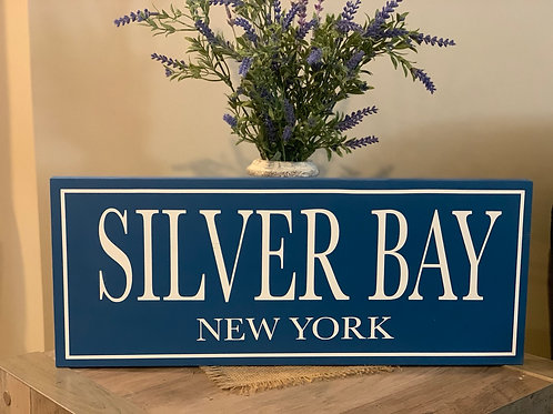 Silver Bay Wooden Sign