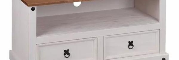 Rack De Tv Led Modular Blanco Tampo 25 M 2 Cajones Sensación