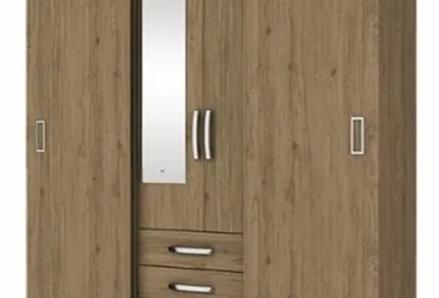 Ropero Placard Dormitorio Puertas Corredizas Y Espejo Sensa