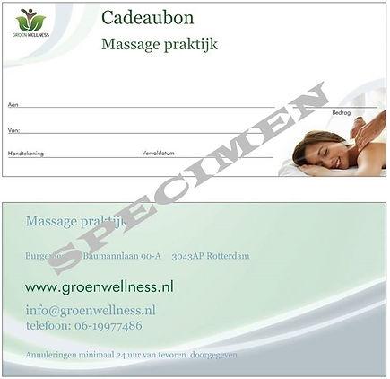 Groen Wellness cadeaubonnen